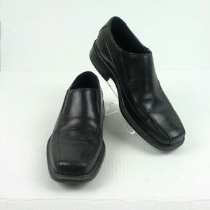 Rockport Loafers Slip On Shoes Size 8M Black Leath